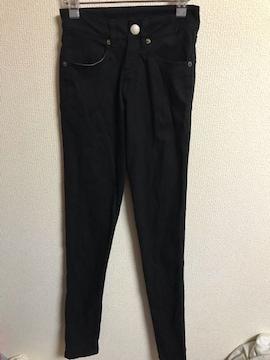 ★黒×ハートポケット スキニーデニムパンツ  XS★