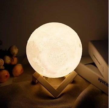 ★即日発送★ 月のランプ 間接照明 8cm タッチ式 台座付