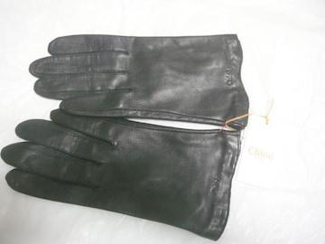 クロエ羊手袋21サイズM〜L黒ショート丈