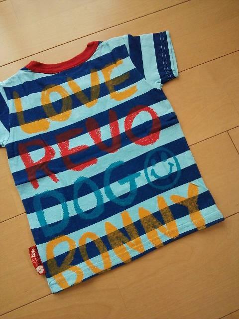 新品ボニーちゃんTシャツ110ブルーLOVEREVOLUTIONラブレボ < ブランドの