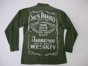 ジャックダニエル アメリカ軍 ミリタリーシャツ Sサイズ