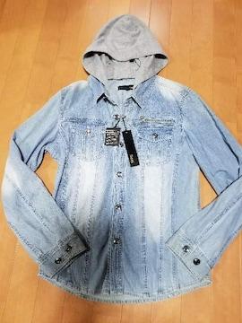 ◆フード付◆デニムシャツジャケット◆