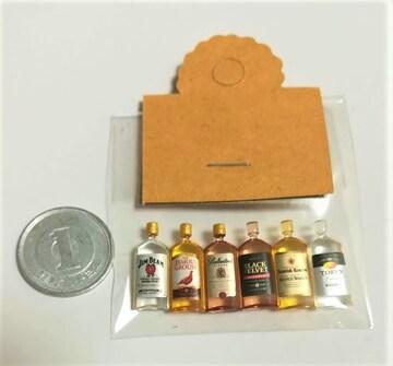 ミニチュア★ウイスキー6本セット★ドールハウスに★