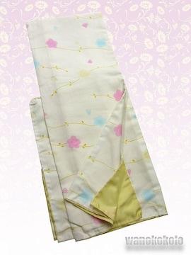 【和の志】洗える着物◇袷Lサイズ◇クリーム系・桜◇309