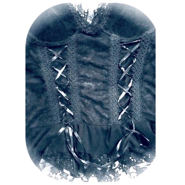 ◆ゴシック◆総レース◆編み上げコルセット◆Lサイズ◆ブラック < 女性ファッションの