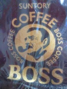 サントリー 缶コーヒー ボス BOSS 革 ボスジャン デザイン キーホルダー ストラップ ブラック