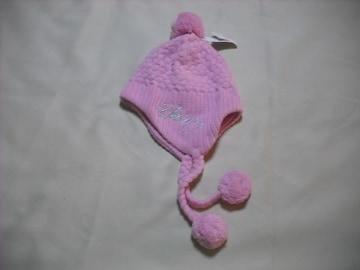 wb42 女 BILLABONG ビラボン 耳当て ボンボン付き ニット帽