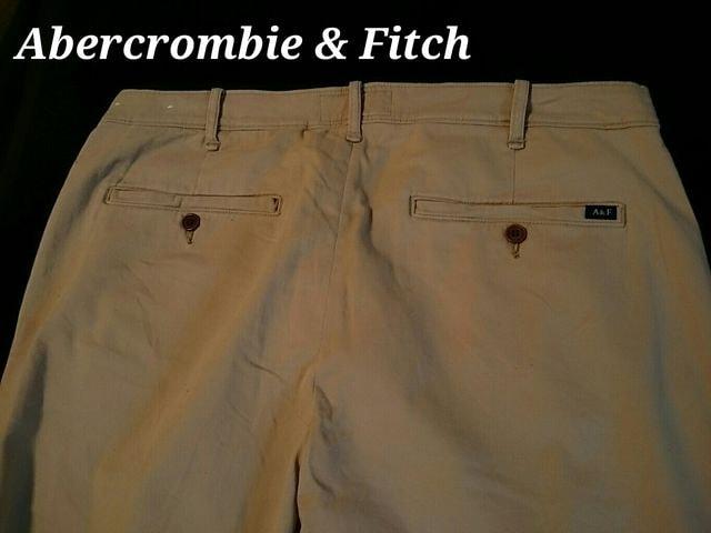 【Abercrombie&Fitch】最新 アバクロ Vintage ストレッチ チノパンツ W34/カーキ < ブランドの