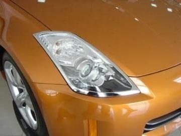 日産 メッキヘッドライトリング フェアレディZ Z33 350Z