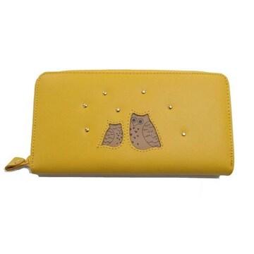 大金が黄色のフクロウに!福ぶくろうラウンドファスナー長財布