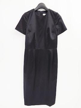 コムデギャルソン ミニマル サテン シルク ブラック ドレス ワンピース シンプル 2013AW