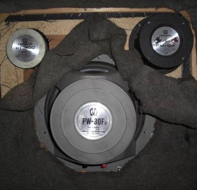 PIONEER/3ウェイスピーカーシステムBOX,2本組中古完動品 < 家電/AVの