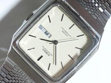 11056/CITIZENシチズン★スクエア型ケースアイボリーダイヤルメンズ腕時計格安