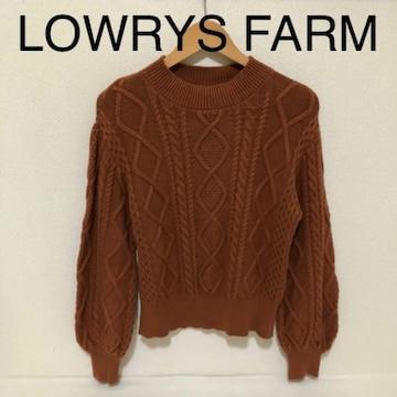 #LOWRYS FARMキャメルニットM