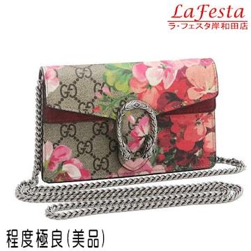 本物美品◆グッチ【人気】GGブルームスショルダーミニバッグ袋箱