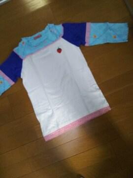 M(150)BETTY'S BLUE/可愛い七分袖Tシャツ