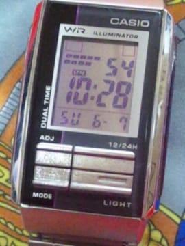 CASIOILLUMINATORデジタル腕時計メタルバンド調整可能