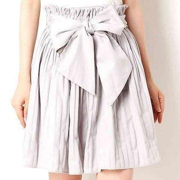 アースm&e☆ウエストリボンタックギャザースカート