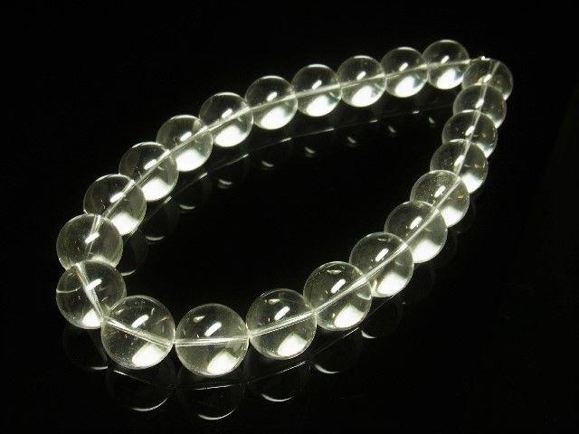 透明感がスゴイ 本水晶クリスタル20ミリ数珠ネックレス 天然石パワー < 男性アクセサリー/時計の