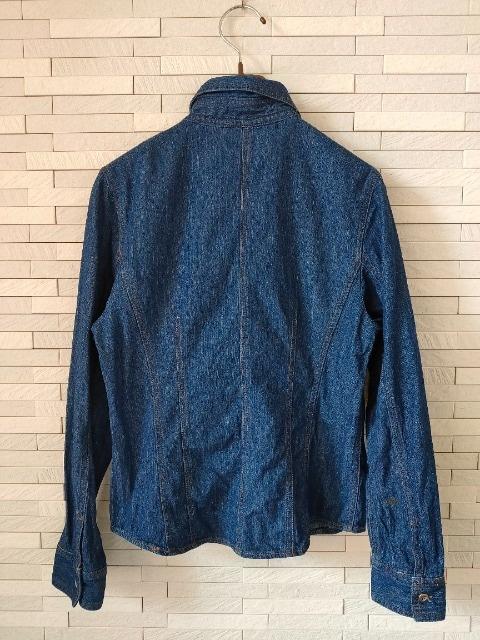 即決/Splended/長袖コットンデニムカジュアルシャツ/ブルー/11 < 女性ファッションの