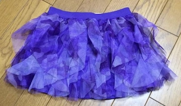 インポートカモフラ柄 紫 スカート 4Tサイズ