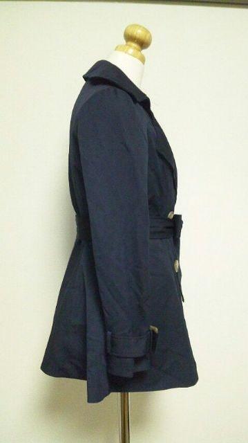 【Michell Macaron】[紺色]長袖コートベルト付き・Size[S] < ブランドの