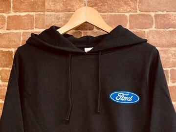 表記L/新品!フォード 刺繍 ワッペン付き パーカー USA企業 アメ車 アメカジ