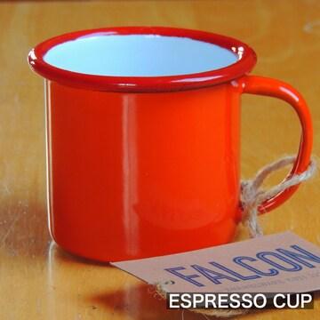 ファルコンFALCON英国伝統ホーローエスプレッソカップ レッド