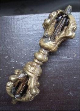 ドルジェ・五鈷杵 8.5センチ(金)密教法具