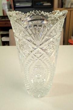 無色クリスタルガラス 花瓶