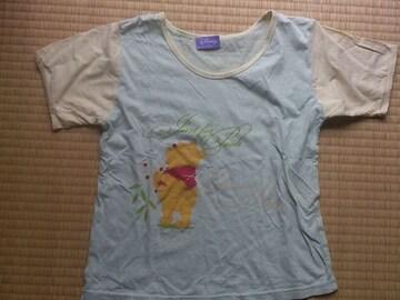 ディズニー★プーさん 半袖Tシャツ  薄黄緑130