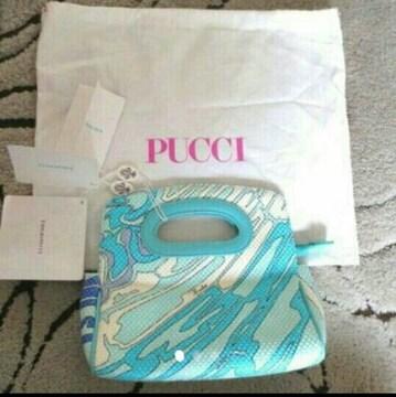 新品 定価5万円 エミリオプッチ バッグ ハンドバッグ 本物 水色