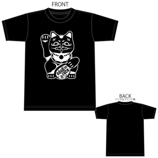 招き猫 Tシャツ TEE 半袖 半袖Tシャツ 1595 XXXL 3XL  < 男性ファッションの