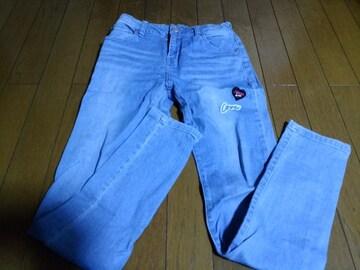 JN-ロングデニムパンツ160ライトブルー