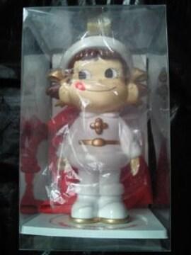 不二家 プレミアム ペコちゃん サンタ 人形 フィギュア 貯金箱 ホワイト クリスマス