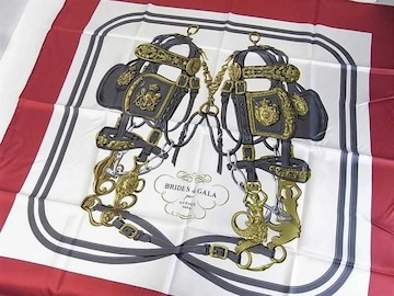 ☆未使用☆エルメス RIDES DE GALA シルク製大判スカーフ 87×87