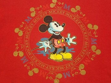 オールド¶Disney[ディズニー]★ミッキースウェットトレーナー M相当/送料\260〜