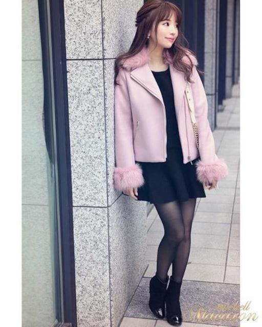 michellMacaron☆即完売レア☆ファーライダース☆ピンク☆S☆新品 < ブランドの