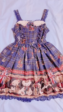 AngelicPretty British Bear JSK アオ