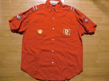 FERRARI フェラーリ レーシング シャツ XL