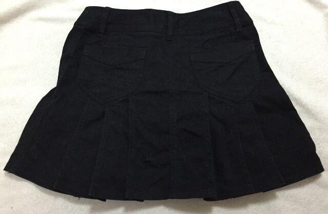 バービー☆黒デニムプリーツミニスカート < ブランドの