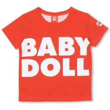 新品BABYDOLL☆100 ロゴ&BIGハートTシャツ 赤 ベビードール