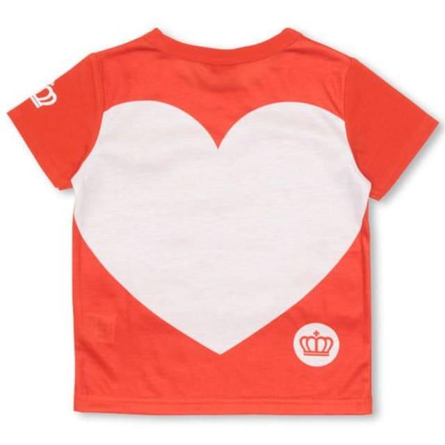 新品BABYDOLL☆100 ロゴ&BIGハートTシャツ 赤 ベビードール < ブランドの