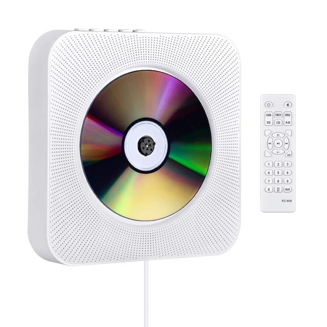 CDプレーヤー 置き&壁掛け式 1台多役 プルスイッチ式  < CD/DVD/ビデオの