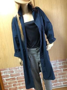 w closet(ダブルクローゼット)前ボタンゆったり薄手コート
