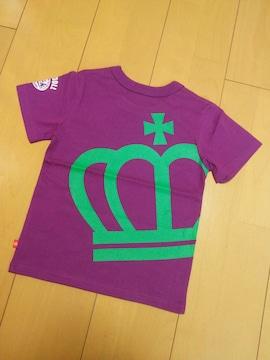 新品斜め王冠Tシャツ紫110ベビードールBABYDOLLベビド