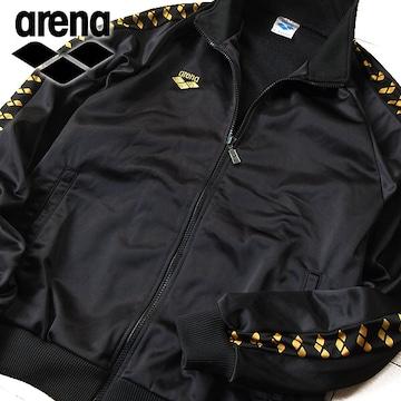美品 M arena アリーナ メンズ ジャージ/ジャケット ブラック