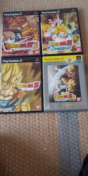 PS2☆ドラゴンボールZシリーズ4本☆まとめ売り♪