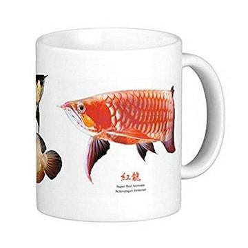 3種類のアジアアロワナのマグカップ 2