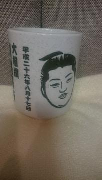 未使用 貴重!大相撲 釧路場所 遠藤 湯呑み 陶器製 2014